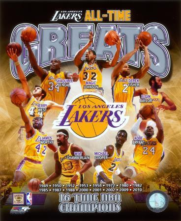 Los Angeles Lakers All Time Greats Composite