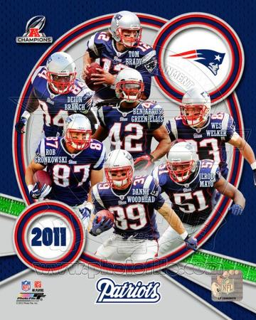 New England Patriots 2011 AFC Champions Team Composite