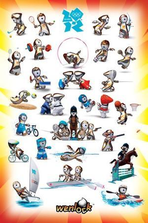 London 2012 Olympics (Wenlock Sport Poses)