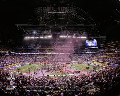 Lucas Oil Stadium after the New York Giants won Super Bowl XLVI