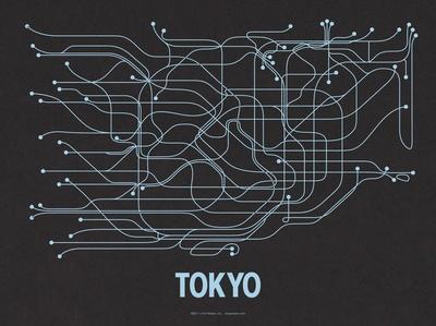 Tokyo (Black Licorice & Light Blue)
