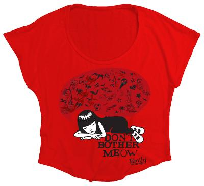 Juniors: Emily The Strange - Don't Bother Me Know (Oversized Dolman Tee)