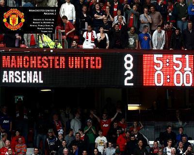 Manchester United-8 Goals Scoreboard