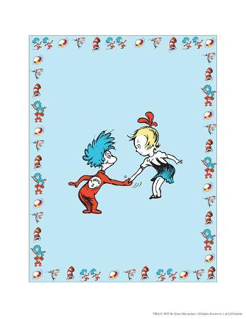 The Cat in the Hat: Thing One (on blue)