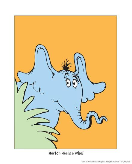 Horton Hears A Who (on Orange) Art By Theodor (Dr. Seuss
