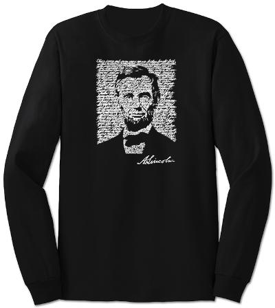 Long Sleeve: Lincoln - Gettysburg Address