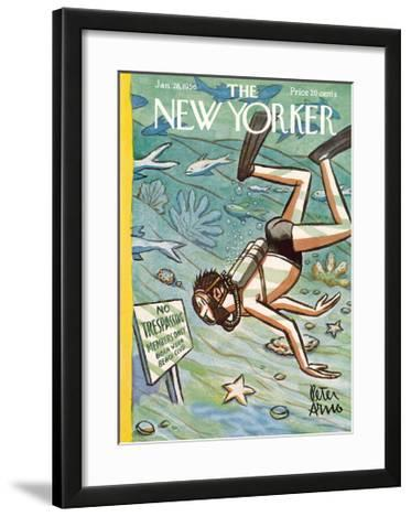 The New Yorker Cover - January 28, 1956
