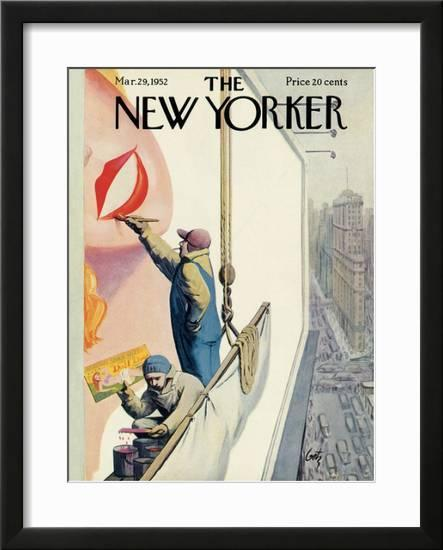 4b863c1ae The New Yorker Cover - March 29, 1952 Framed Giclee Print by Arthur Getz at  AllPosters.com