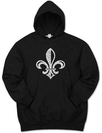 Hoodie: Saints Go Marching In Fleur De Lis