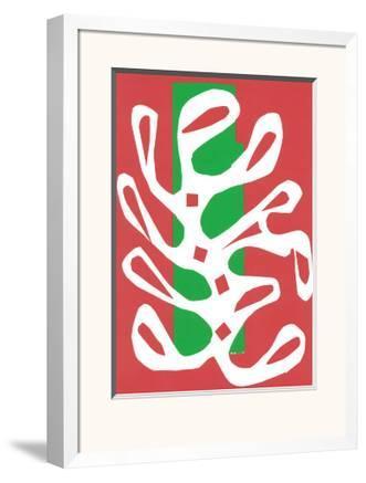 Algue Blanche sur Fond Rouge et Vert, c.19