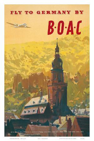 British Overseas Airways Corporation: Fly to Germany by BOAC, c.1950s