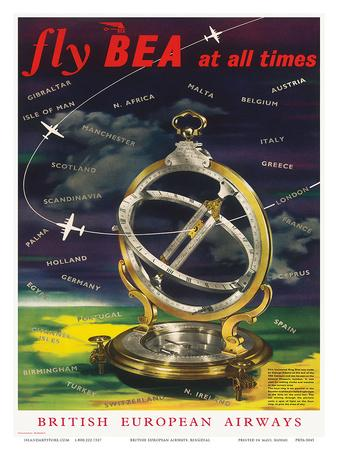 British European Airways: Fly BEA at All Times, c.1960s