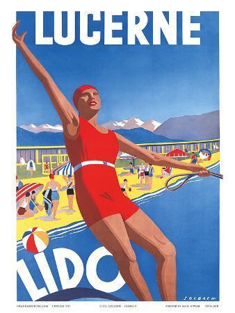 Lido, Lake Lucerne, Switzerland, c.1933