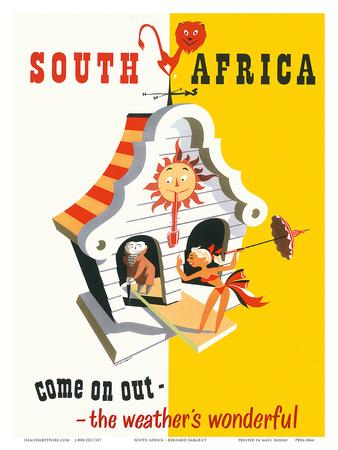South Africa: Come on Out - The Weather is Wonderful, c.1940s