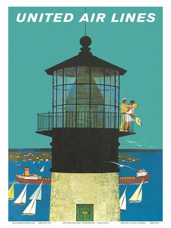 United Air Lines: Lighthouse, c.1960s