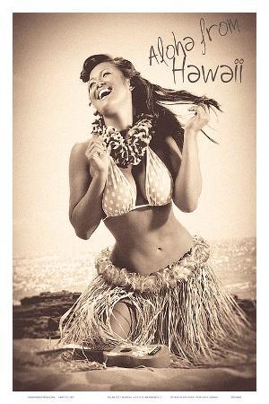 Polka Dot Wahine: Hawaiian Hula Girl