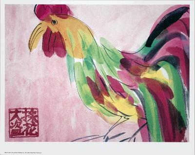 Cock in Pink and Green