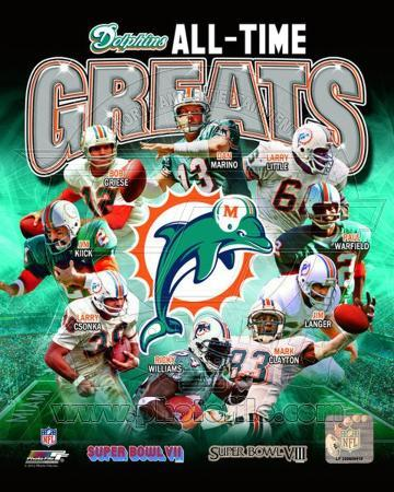 Miami Dolphins All Time Greats Composite