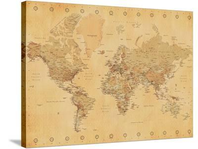 World Map-Vintage Style