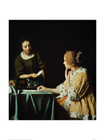 Woman with Maid and Letter