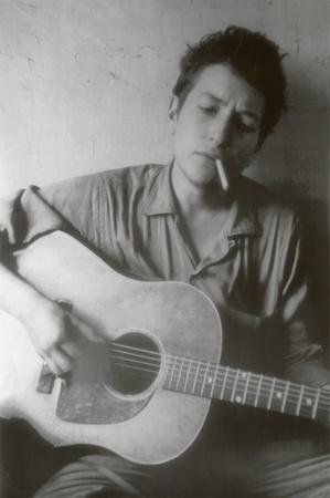 Bob Dylan Cigarette and Guitar Music Poster Print
