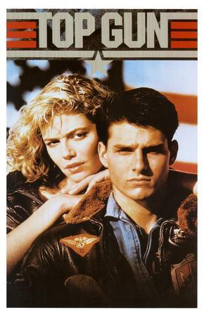 Top Gun Movie Tom Cruise and Kelly McGillis 80s Poster Print