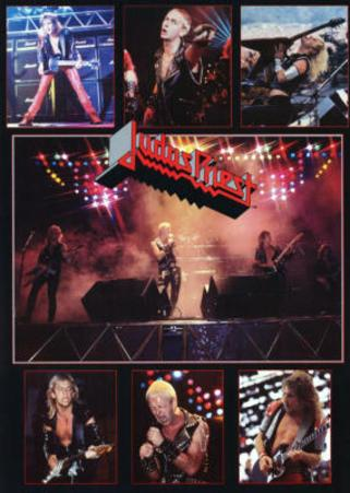 Judas Priest Concert Collage 80s Music Poster Print