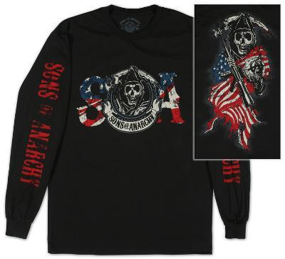 Long Sleeve: Sons of Anarchy - Reaper & Flag