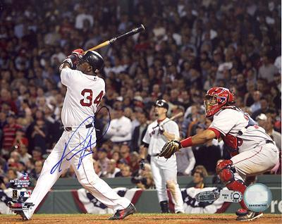David Ortiz ALDS Game 3 Game Winning Home Run Autographed Photo (Hand Signed Collectable)