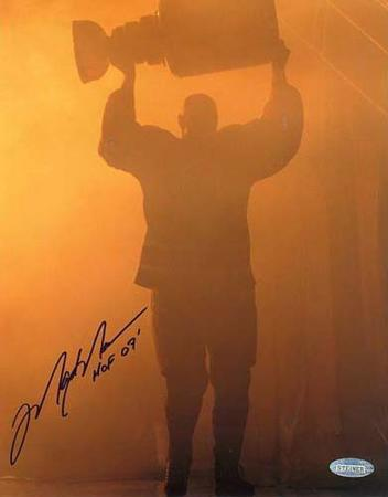 """Mark Messier Oilers Retirement w/Stanley Cup """"HOF 07"""" Autographed Photo (Hand Signed Collectable)"""