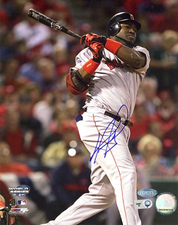David Ortiz ALCS Game 4 Home Run Autographed Photo (Hand Signed Collectable)