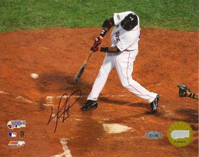 David Ortiz 2007 WS Game 1 Single Autographed Photo (Hand Signed Collectable)