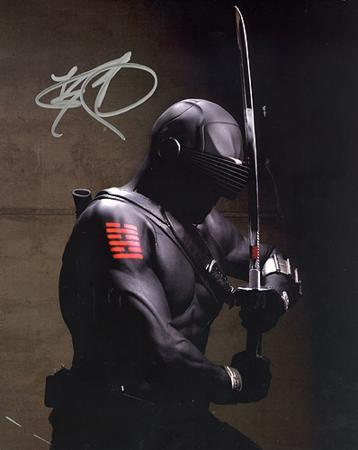 Ray Park GI Joe In Black Suit Autographed Movie Photo (Hand Signed Collectable)