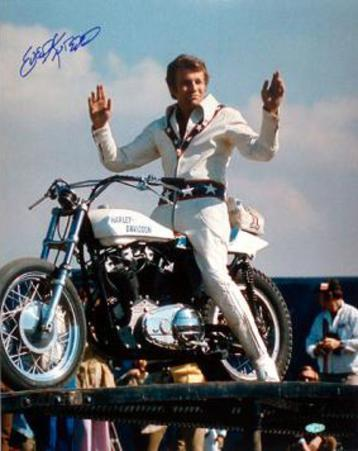 Evel Knievel on Bike Color