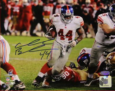 Ahmad Bradshaw Run 2012 NFC Championship Game Signed Autographed Photo (Hand Signed Collectable)