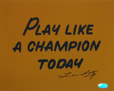 Lou Holtz Play Like A Champion Today