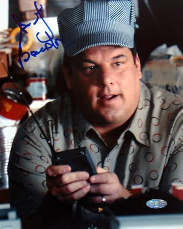 Steve Schirripa Conductor Hat Autographed Photo (Hand Signed Collectable)