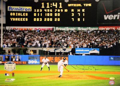 Mariano Rivera Final Pitch at Yankee Stadium Scoreboard