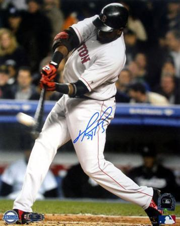 David Ortiz ALCS Game 7 1st Inning Home Run Autographed Photo (Hand Signed Collectable)