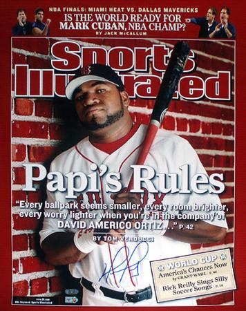 """David Ortiz """"Papi's Rules"""" Sports Illustrated Cover Autographed Photo (Hand Signed Collectable)"""