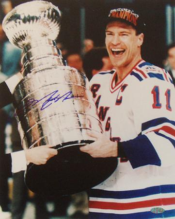 Mark Messier Cup on Side Vertical Photo