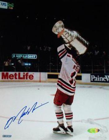 Mark Messier 1994 Stanley Cup Overhead Celebration Autographed Photo (Hand Signed Collectable)
