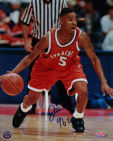 "Jason Hart Syracuse Orange Jersey Dribbling Ball Verticalw/ ""96-00"" Inscription"