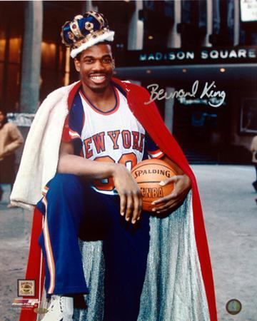 Bernard King With Crown in Front of the Garden Autographed Photo (Hand Signed Collectable)