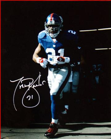 Tiki Barber Last Time Out of the Giants Tunnel 16x20 Autographed Photo (Hand Signed Collectable)