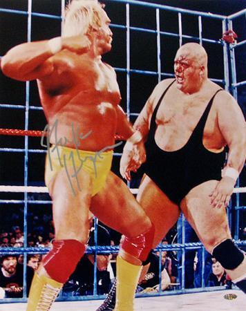 Hulk Hogan - WWE - With King Kong Bundy WWE Autographed Photo (Hand Signed Collectable)