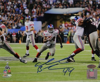 Ahmad Bradshaw Signed Super Bowl XLVI Run Up The Middle Horizontal Photo