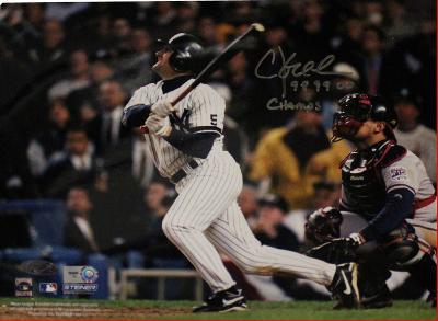 "Chuck Knoblauch World Series Swing Horizontalw/ ""98, 99, 00"" Champs"" Inscription"