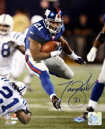 Tiki Barber Run vs. Colts Autographed Photo (Hand Signed Collectable)