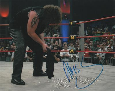 Abyss with The Monster Inscription Autographed Photo (Hand Signed Collectable)